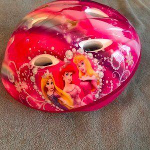 Pink Disney toddler princess helmet